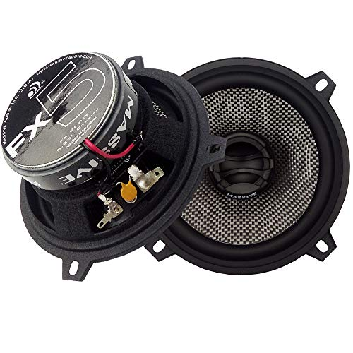 - Massive Audio FX5-5.25 Inch, 240 Watts Max, 60 Watts RMS, FX Series Coaxial Speakers, 20mm Aluminum Dome Ferro Fluid, 6dB Linksworth Riley Crossover 4 Ohm (Sold AS Pair)