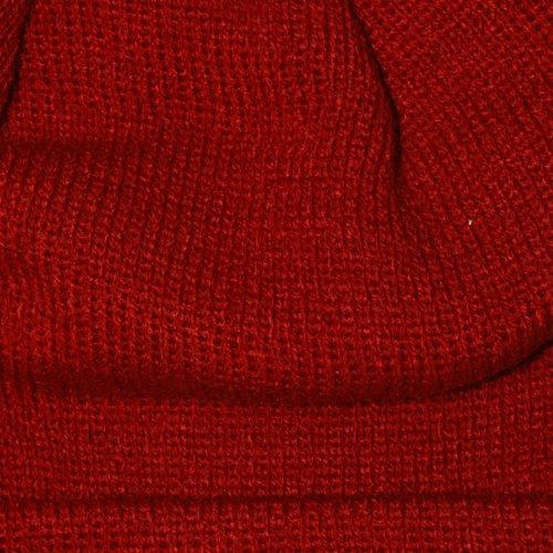 Beanie Worldwide de Gorro Pom Pom hombre Obey Red para lana gH8wqv