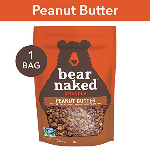 Bear Naked Peanut Butter Granola - Non-GMO | Kosher | Vegetarian Friendly - 12 Oz