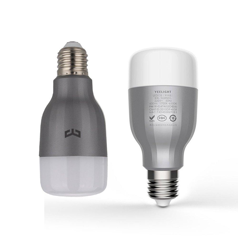 Intelligents Ampoules Multicolore Ollivan Xiaomi Yeelight Smart Light Bulb Lampe Ampoule LED Dimmable E27 9W Basse Consommation WiFi Bulb With App avec T/él/écommande Multicolour Wifi Bulb