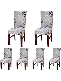 ColorBird Plant Series Spandex Dining Chair Slipcovers Removable Universal  Stretch Chair Protective Covers For Dining Room