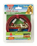 Four Paws Red Medium Weight 20 Foot Dog Tie Out Cable