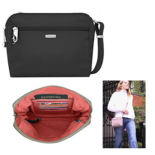 Convertible Cross Body Bag - Travelon Women's Classic Convertible Crossbody & Waist Pack Cross Body Bag, Black, One Size
