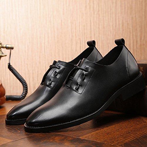 transpirable Hombre hasta Encaje de casual hombres EU punta de Mocasines Oxfords 2018 Negro Zapatos cuero la punta Size en Black Zapatos 38 Cross de Criss mate PU de bajos Color Black los 5TUqSw