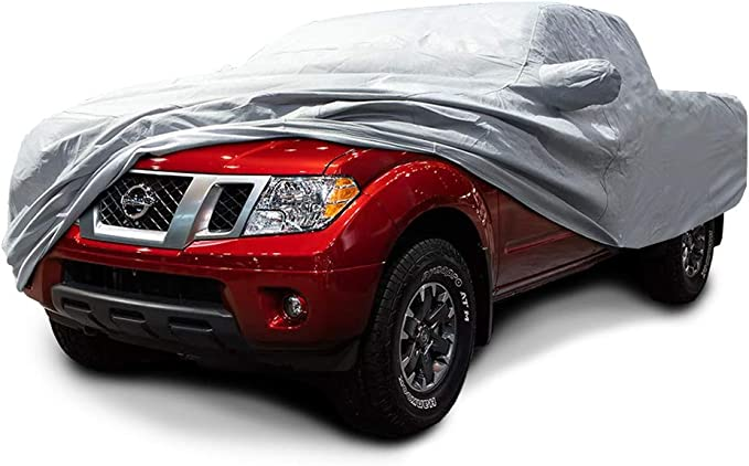SILVER WATERPROOF CAR COVER TO FIT Nissan Frontier MODELS ONLY