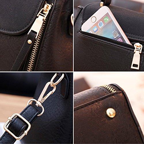 cm spalla Nero tracolla modello Messenger Colore signore PU 24 borse spalla Ultimo borsa NERO 14 selvaggio femminile in pelle moda 19 RnTq4x