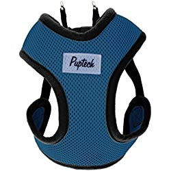 PUPTECK No Choke Safety Dog Harness No Pull Vest for Small Puppy Freedom Walking Navy Blue Large