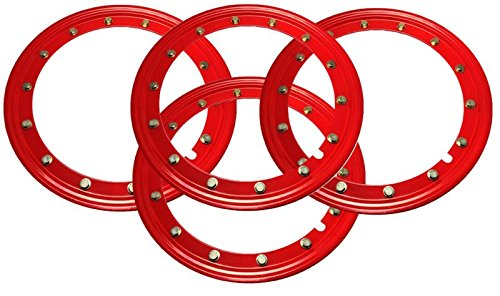 BILLET4X4 Simulated Beadlock Rings 15 inch - RED (Set of 4) by BILLET4X4