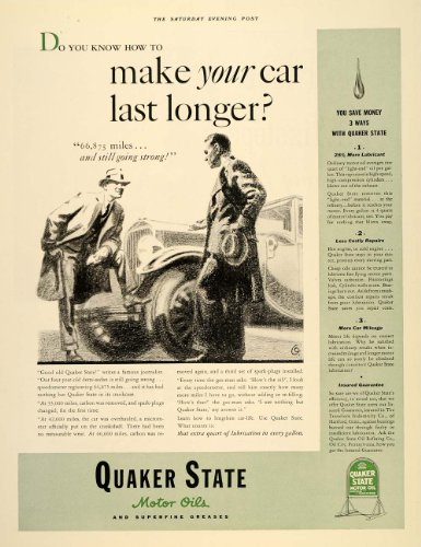 Quaker State Motor Oil Ad Collectibles