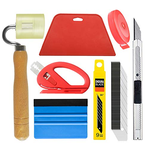 Wallpaper Tool Kit with Felt Squeegee Seam Roller for Wallpaper Contact Paper Adhesive Vinyl