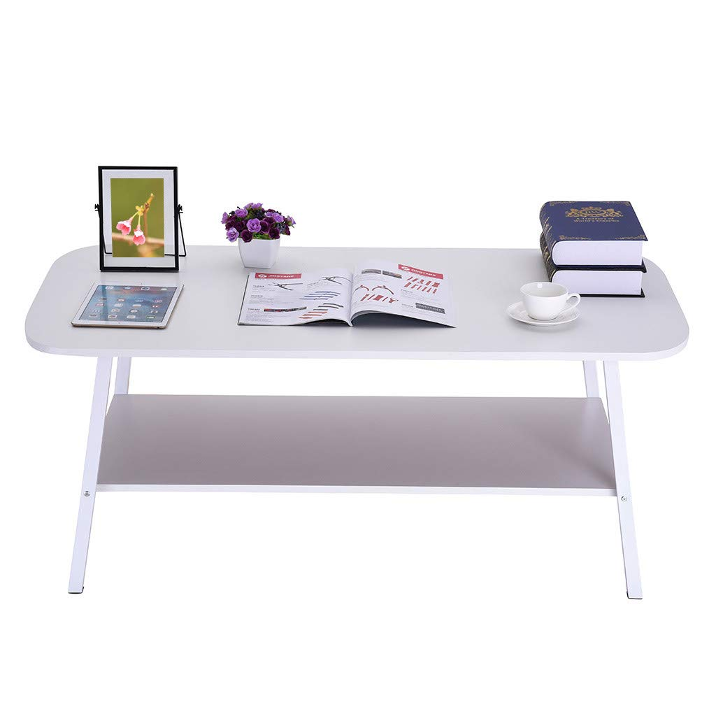 Table Minimalist Computer Desk - Portable Folding Table Home Dining Table Casual Convenient Folding Table - Modern Minimalist Living Room Small Simple Home Coffee Table - for Camping, Outdoor (B) by QIANSKY