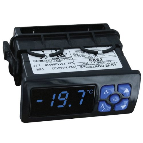 Love Digital Refrigeration Temperature Switch, TSX3-520332, Blue Display, 3 outputs, 12 VAC/VDC