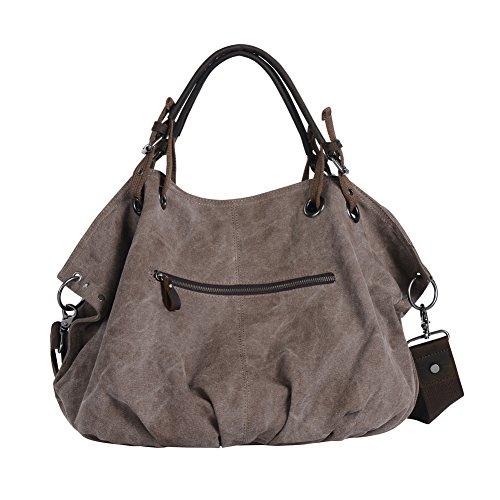 wonder youth oversized canvas women 39 s shoulder bag top handle bag tote for travel gym brown. Black Bedroom Furniture Sets. Home Design Ideas
