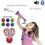 Kids Karaoke Microphone Wireless Singing Machine Bluetooth Cool Halloween Speaker with Princess Design