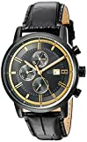 Tommy Hilfiger Men's Quartz Resin and Leather Casual Watch, Color:Black (Model: 1791245)