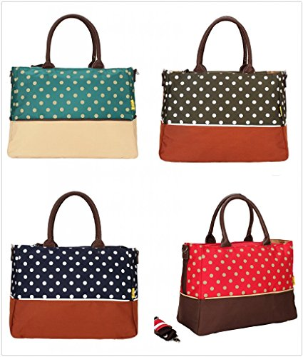 Landuo 4Colors Women's Diaper Nappy Bag Dots Tote Size - 1