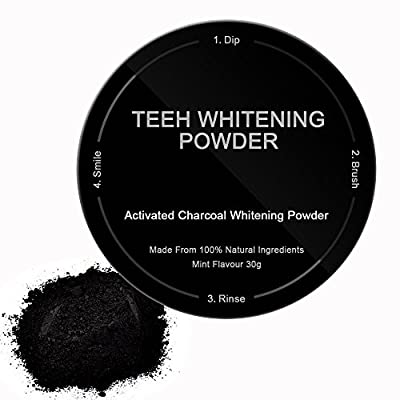 Bysiter Activated Charcoal Powder Natural Teeth Whitening Powder Coconut Activated Charcoal Safe Effective Tooth Whitener Better than Strips, Whitening Toothpaste, REMOVES COFFEE ,SMOKE STAINS