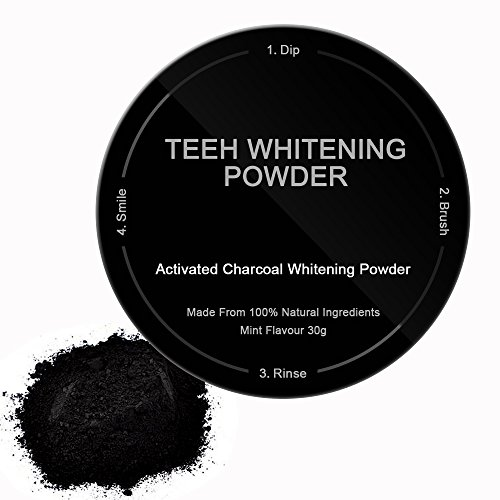 Bysiter Activated Charcoal Powder Natural Teeth Whitening Powder Coconut Activated Charcoal Safe Effective Tooth Whitener Better than Strips, Whitening Toothpaste, REMOVES COFFEE ,SMOKE STAINS (How To Make A Cigarette Holder)