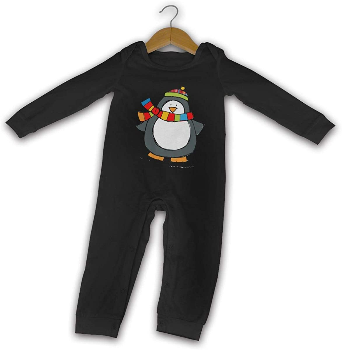 YELTY6F Fall Winter Clipart Printed Baby Bodysuit Long Sleeve Outfits Black