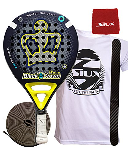 pala de padel Black Crown Wave: Amazon.es: Deportes y aire libre