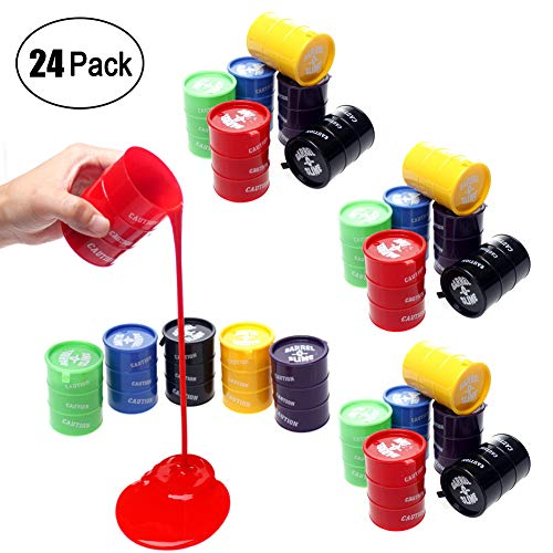24 PCS Small Barrel of Slime,Assorted Colors,Container 2 Inches - for Kids Boys and Girls,Novelty Party Favor