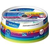 三菱化学メディア Verbatim DVD-R DL 8.5GB 1回記録用 2-8倍速 スピンドルケース 25枚パック ワイド印刷対応 ホワイトレーベル DHR85HP25V1
