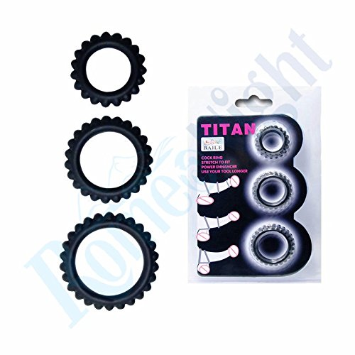Price comparison product image UltaPlay(TM) ( 3 in 1 )Power Enhancer Get Hard Stretchy Silicone C-o-c-k Ring Delay Erection P-e-n-i-s Rings Set for Men, S-e-x-y Products