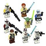 New Fun Star Wars Das Vinda Yoda Minifigures Building Brick Blocks Toy for Children, 8Pcs/Set ABS Plastic Multi-color