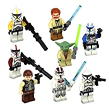 New Fun Star Wars Das Vinda Yoda Minifigures Building Brick Blocks Toy for Children, 8Pcs/Set ABS Plastic Multi-color