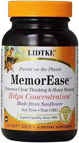 Lidtke Technologies Memorease Capsules, 60 Count