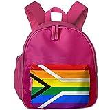 Gay Flag Of South Africa Kids Lightweight School Kindergarten Backpack Book Bag Backpack Pink
