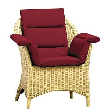 Amazon.com: Total silla y cojín de silla de ruedas, Borgoña ...