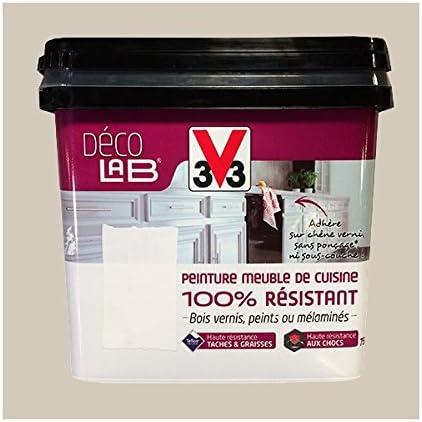 V33 Deco Lab Peinture Meuble De Cuisine 100 Resistant Beige