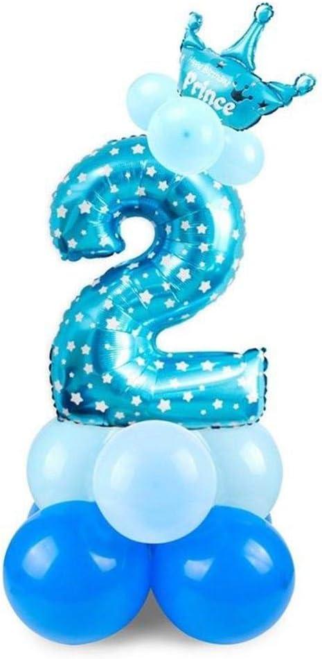 Katem Zahlenform Kinder Aluminium Ballon Dekoration F/ür Geburtstagsfeier Dekorationszubeh/ör
