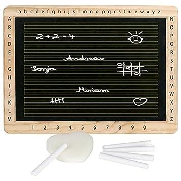 Schultafel mit kreide und schwamm  Schreibtafel mit Kreide und Schwamm: Amazon.de: Spielzeug