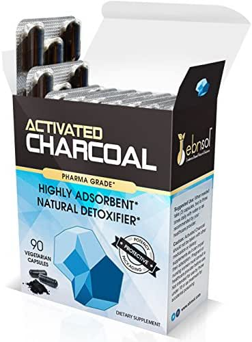Potent Activated Charcoal Supplement, 90 Vegetarian Capsules in Stay Fresh Packaging | Promotes All Natural, Whole Body Detox Teeth Whitening and Digestive Health | Environmentally Sustainable Source
