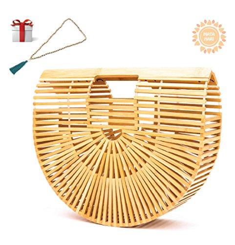 Bamboo Handbag by Matahari Handmade Womens Beach Ark Bag Bamboo Purse Clutch by Matahari