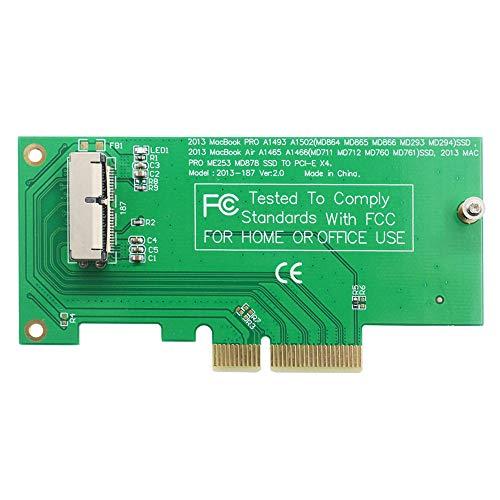 GODSHARK PCIe SSD Adapter Card for 2013 2014 2015 2016 2017 MacBook Air Pro Retina, Hard Drive Controller Converter to Desktop PCI Express X4, Support Model A1465 A1466 A1398 A1502