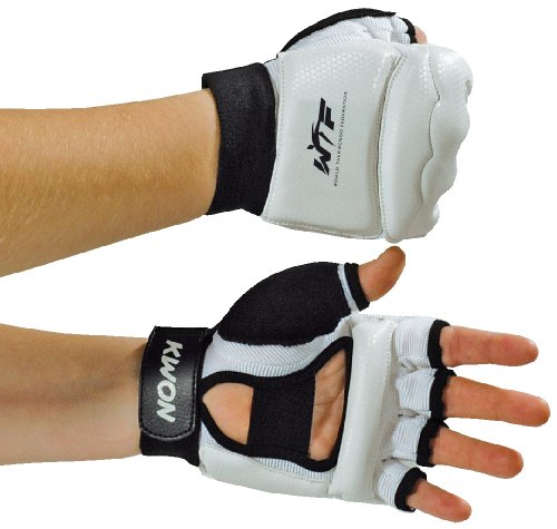 KWON Boxhandschuhe Handschutz Taekwondo WTF, weiß, S, 4009001