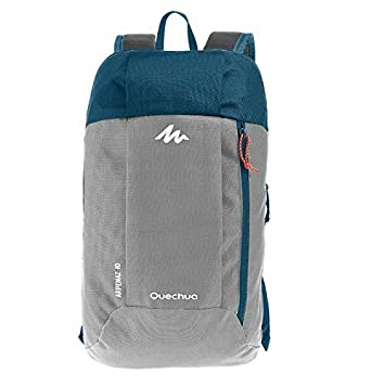 7eac8c3fcffa9 Quechua Hiking Backpack, 10 L (Grey/Blue)
