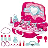 Toys N Smile Beauty Makeup Pretend Play Toy Set for Girl with Carry Suitcase.