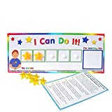 """Kenson Kids """"I Can Do It!"""" Token Board. Colorful Magnetic Rewards Chart with Positive-Reinforcement Stars and Customizable Goal Box. Great for Ages 3-10. Measures 5-Inches by 9-Inches"""