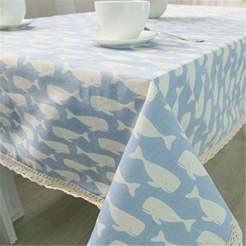 Verplim Mediterranean Style Cotton Cloth Fish Table Cover Gilette Fusion Jogo Americano De (Jogos De Halloween)