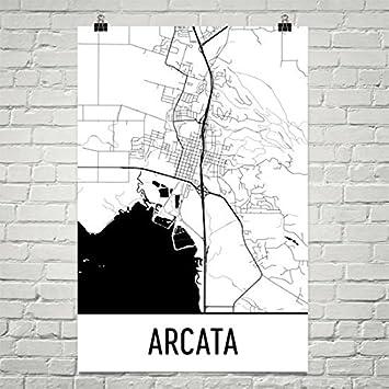 Amazoncom Arcata California Map Arcata Art Arcata Print Arcata