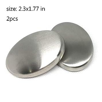 Amazon.com: Kyayy 2 piezas de jabón de acero inoxidable ...