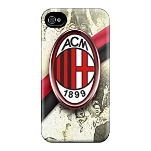 Great Hard Phone Cover For Iphone 6plus (lbN253xeVO) Custom Realistic Ac Milan Skin