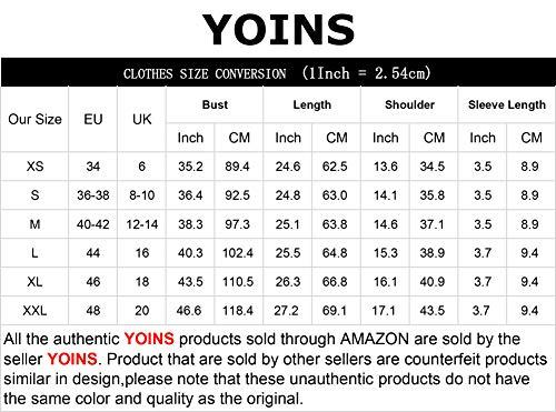YOINS Donna Magliette Manica Corta Donna T-Shirt in Cotone Basic Camicetta Estivo Camicia Casuale Top