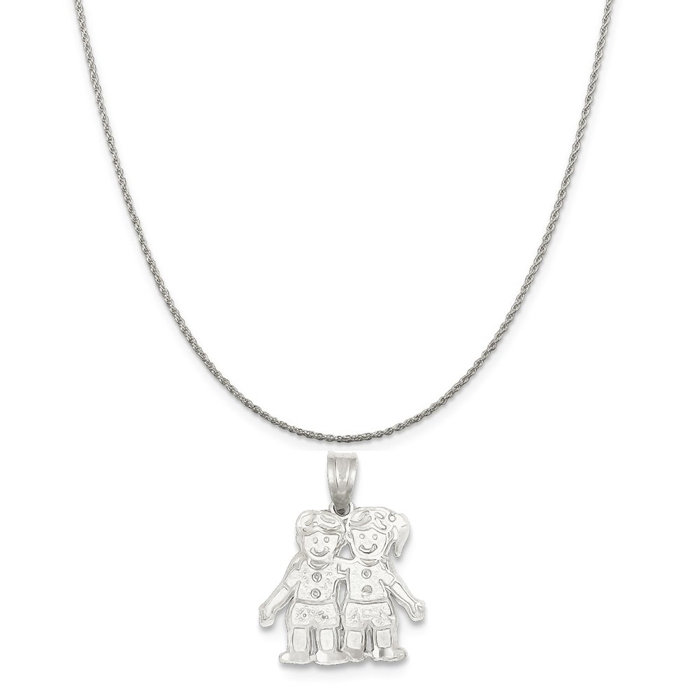 Mireval Sterling Silver Boy//Girl Charm on a Sterling Silver Chain Necklace 16-20