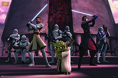 Trends International Star Wars: The Clone Wars Group Wall Poster 22.375