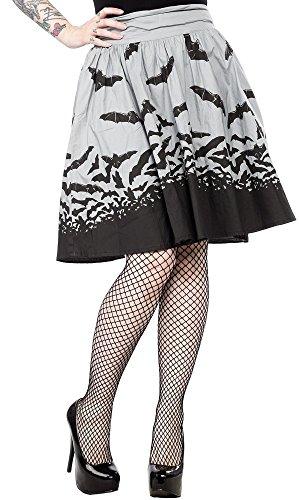 Sourpuss-Spooksville-Bats-Swing-Skirt-Gray